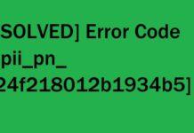 ERROR CODE [PII_PN_24F218012B1934B5]